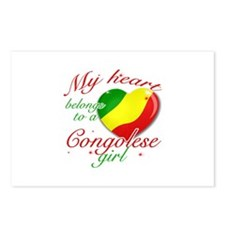 Congolese Valentine's designs Postcards (Package o
