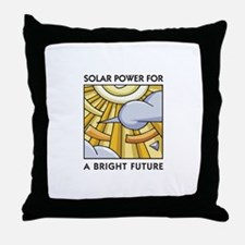 Solar Power for a Bright Future Throw Pillow