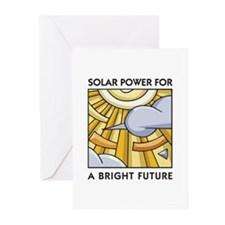 Solar Power for a Bright Future Greeting Cards (Pa