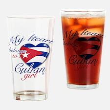 Cuban Valentine's designs Drinking Glass