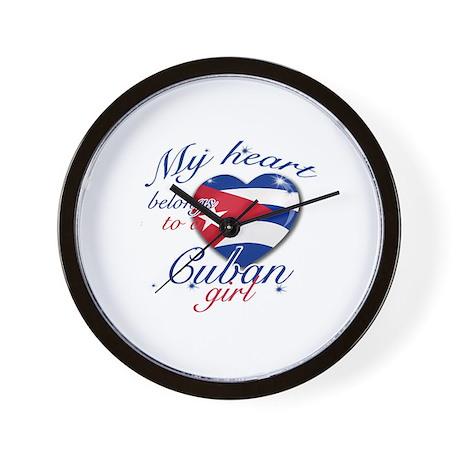 Cuban Valentine's designs Wall Clock