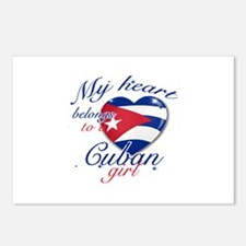 Cuban Valentine's designs Postcards (Package of 8)