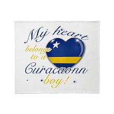 Curacaon Valentine's designs Throw Blanket