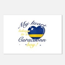Curacaon Valentine's designs Postcards (Package of