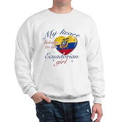Ecuadorian Valentine's designs Sweatshirt