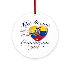 Ecuadorian Valentine's designs Ornament (Round)