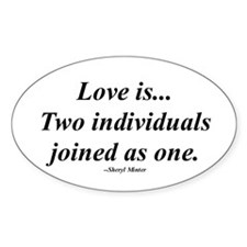 Love is... Oval Decal