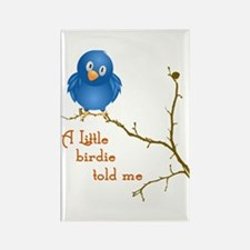A Little Birdie Rectangle Magnet (100 pack)