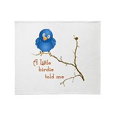 A Little Birdie Throw Blanket