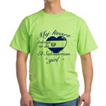 El Salvadorian Valentine's designs Green T-Shirt