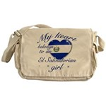 El Salvadorian Valentine's designs Messenger Bag
