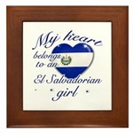 El Salvadorian Valentine's designs Framed Tile