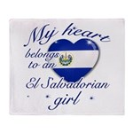 El Salvadorian Valentine's designs Throw Blanket