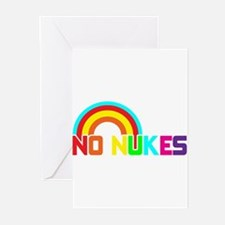 No Nukes, Anti Nuclear, Prote Greeting Cards (Pk o