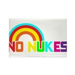 No Nukes, Anti Nuclear, Prote Rectangle Magnet (10