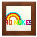 No Nukes, Anti Nuclear, Prote Framed Tile