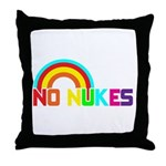 No Nukes, Anti Nuclear, Prote Throw Pillow