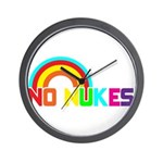 No Nukes, Anti Nuclear, Prote Wall Clock