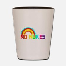 No Nukes, Anti Nuclear, Prote Shot Glass