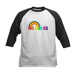 No Nukes, Anti Nuclear, Prote Kids Baseball Jersey