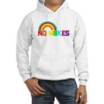 No Nukes, Anti Nuclear, Prote Hooded Sweatshirt