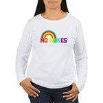 No Nukes, Anti Nuclear, Prote Women's Long Sleeve