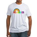 No Nukes, Anti Nuclear, Prote Fitted T-Shirt