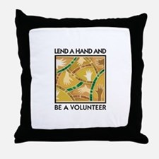 Lend a Hand and Be a Volunteer Throw Pillow
