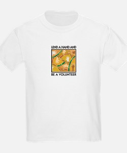 Lend a Hand and Be a Volunteer Kids T-Shirt