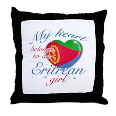 Eritrean Valentine's designs Throw Pillow