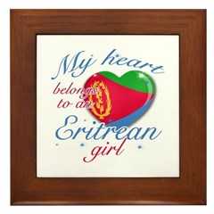 Eritrean Valentine's designs Framed Tile