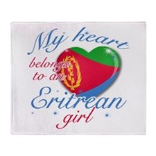 Eritrean Valentine's designs Throw Blanket