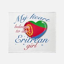 Eritrean Valentine's designs Throw Blanket