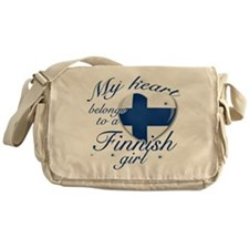 Finnish Valentine's designs Messenger Bag