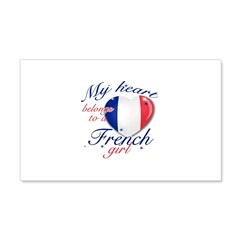 French Valentine's designs 22x14 Wall Peel