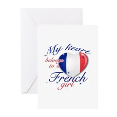 French Valentine's designs Greeting Cards (Pk of 1