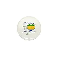 Gabonese Valentine's designs Mini Button (10 pack)