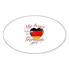 German Valentine's designs Sticker (Oval)