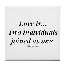 Love is... Tile Coaster