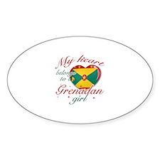 Grenadian Valentine's designs Sticker (Oval)