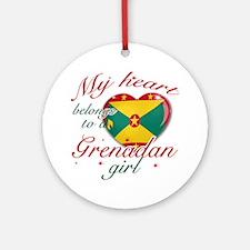 Grenadian Valentine's designs Ornament (Round)