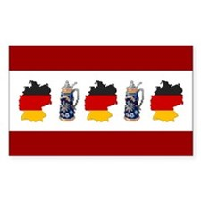 """Pixel Germany/Stein"" Rectangle Decal"