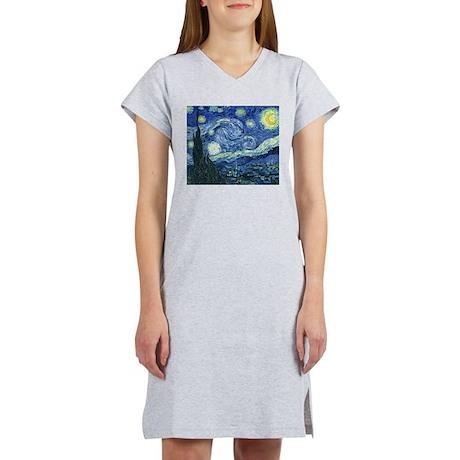Van Gogh Starry Night Women's Nightshirt