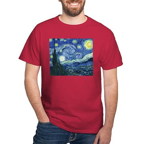 Van Gogh Starry Night Dark T-Shirt
