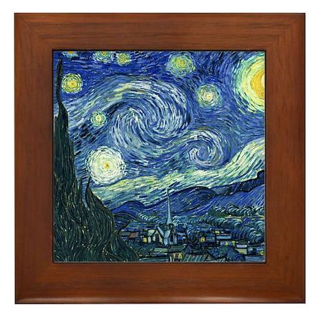 Van Gogh Starry Night Framed Tile