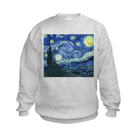 Van Gogh Starry Night Kids Sweatshirt