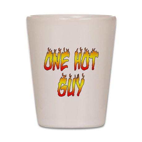 One Hot Guy Shot Glass