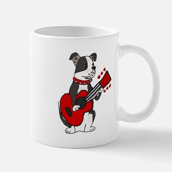 American Bulldog Guitar Art Mugs