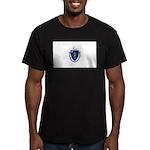 Massachusetts Men's Fitted T-Shirt (dark)