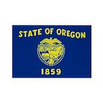 Oregon Rectangle Magnet